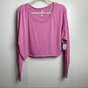 New Free People small pink crop lightweight top